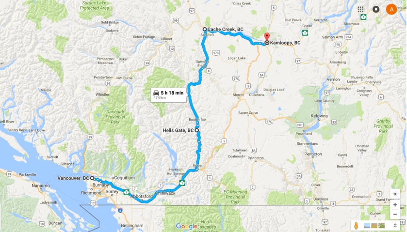 A Canadian Road Trip: Vancouver to Kamloops – Diary of a Tourist